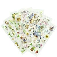 Bộ 6 Tấm Sticker Giấy Thiên Thần Mùa Xuân