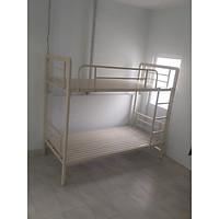 Giường sắt 2 tầng cao cấp hộp 1x6 rộng 1m giá rẻ