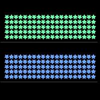 Combo 210 sticker dạ quang hình ngôi sao