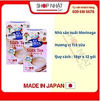 Sữa bầu Morinaga vị trà sữa nội địa Nhật - Tặng túi zip 5 kẹo mật ong Senjaku