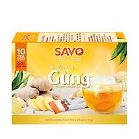 Trà SAVO Gừng Hòa Tan (Instant ginger Tea) - Hộp 16 gói x 12g