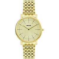 Đồng hồ Neos N-30889M Nam dây thép vàng