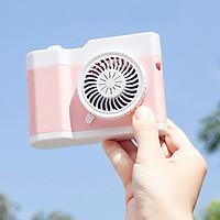 Quạt Cầm Tay Mini Tích Điện Hình Camera Dễ Thương Kèm Dây Đeo Cổ - mp148
