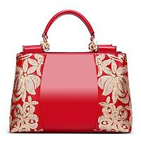 Túi xách da PU thiết kế dây kéo thời trang nữ IELGY