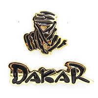 Set 2 sticker hình dán metal Dakar Vàng 3D