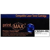 Hộp mực in Laser màu Đen PrintMAX dành cho máy HP CB540A-BK – Hàng Chính Hãng