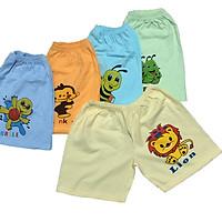Combo 10 quần đùi cotton màu nhạt cho bé trai, bé gái SS, chất vải cotton mềm, mịn, thấm hút mồ hôi, size cho bé từ 5 đến 23kg, hàng Việt Nam chất lượng