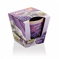 Ly nến thơm tinh dầu Bartek Lavender Fields & Soap 115g PTT04965 - cánh đồng oải hương