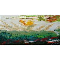 Tranh sơn dầu sáng tác vẽ tay: Che Chở