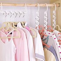 Bộ 8 Móc treo quần áo nhiều tầng tiết kiệm không gian