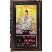 Tranh lịch vạn niên , Phật Bà Quan Âm 3D - 802