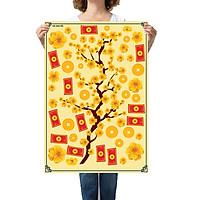 Sticker decal hình dán trang trí tết - Mai Khoe Sắc