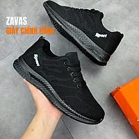 Giày Thể Thao Nam Màu Đen, Sneaker Nam Màu Đen,  Đế Êm, Nhẹ Thoáng Khí S355