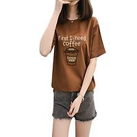 Áo thun nữ coffee phong cách T&D d407 màu đồng
