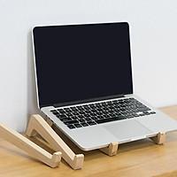 [Tản nhiệt tốt] Kệ laptop/ giá đỡ laptop bằng gỗ tự nhiên bền đẹp (bộ 2 cái)