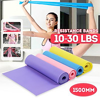 1500mm Yoga Pilates Fitness Mat Gymnastic Mat Non-slip Elastic Band Mat Fitness Bag Fitness Weight Loss Exercise for Home Gym 10/15/20/25/30 lbs【Random colors】