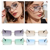 4PCS Vintage Rimless Sunglasses Retro Classic Tinted Lens Eyewear Shades