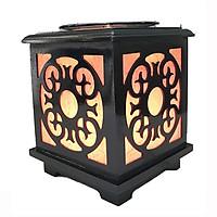 Đèn xông tinh dầu gỗ hoa mai đen