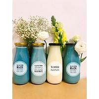 Chai thủy tinh đựng sữa hạt 200ml - 8 chai