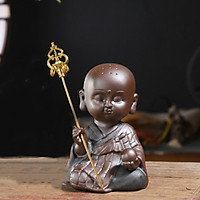 Phật Địa Tạng Gốm Đen