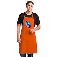Tạp Dề Làm Bếp In Hình Bướm Nghệ Thuật  Tuyệt Đẹp - Mẫu018