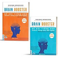 Sách - Combo 2 Cuốn Brain Booster Nghe Phản Xạ Tiếng Anh Nhờ Công Nghệ Sóng Não Để Nói Tiếng Anh Thành Công Sau 30 Ngày