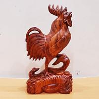 Tượng con gà gỗ hương cao 25 cm