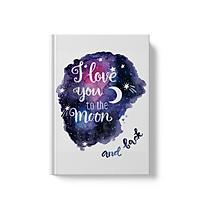 Sổ tay bìa cứng ruột Dot  - I Love You To The Moon