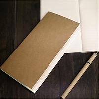 Sổ vở bìa giấy kraft trơn 64 trang  11x21cm - Nhật ký