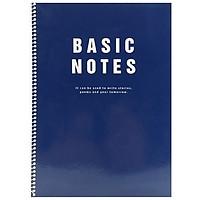 Sổ Lò Xo Hottracks BASIC B5 - Màu Xanh