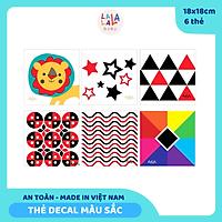 Bộ 6 thẻ dán tường KÍCH THÍCH THỊ GIÁC màu sắc, kích thươc 18x18cm,  giúp bé phát triển toàn diện