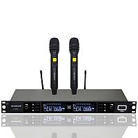 Đầu Thu Karaoke Không Dây Shubole K-10II + 2 Micro Không Dây UHF Chính Hãng