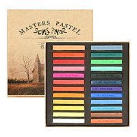 Màu vẽ phấn tiên pastel hộp 24 màu vẽ tranh, hoa đất sét nhật, tô tượng