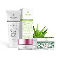 Bộ sản phẩm làm mờ nám da mặt Truesky V01 gồm 1 kem nám da Melasma Cream 15g và một sữa rửa mặt nha đam Arbutin Cleanser 60ml