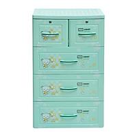 tủ nhựa đựng quần áo Panda Song Long 4 tầng 5 ngăn có khóa- chọn màu, họa tiết ngẫu nghiên