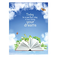 Sổ Lò Xo Notebook Minh Long – Today Is A Perfect Day To Start Living Your Dreams 196 Trang