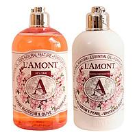 Combo Chăm Sóc Da Sữa Tắm (500ml) Và Sữa Dưỡng Thể (250ml) L'amont En Provence Cherry Blossom