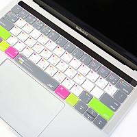Miếng lót, Phủ Bàn Phím Macbook JRC Shortcut - Mix Green - Chất liệu TPU cao cấp, Chống nước, bụi bẩn - Hàng Chính Hãng