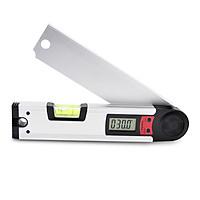 Thước đo góc điện tử+nivo cân bằng 2 trong 1 dài 250mm kèm pin- Thước ni vô cân bằng - thước đo góc điện tử
