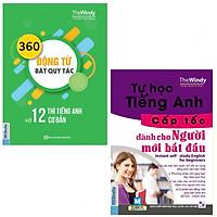 Combo 2 Cuốn Tự Học Tiếng Anh Cấp Tốc + 360 Động Từ Bất Quy Tắc Và 12 Thì Tiếng Anh Cơ Bản ( tặng kèm bookmark )