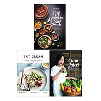 Sách - Combo Eat clean + Chào Juice + Về nhà ăn cơm