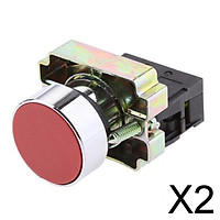 2xXB2-BA42 Red Momentary Self-Reset Flush Push Button Switch 1 NC N/C 22mm