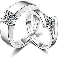 Cặp nhẫn bạc Mãi mãi chung đôi