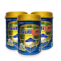 Bộ 3 lon sữa Nuti IQ Gold 2 900g (mới) - Phát triển não bộ và thị giác, Tăng cường sức đề kháng, Phát triển cân nặng - chiều cao, Tiêu hoá - hấp thu tốt, Ngăn ngừa táo bón