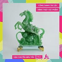 Tượng ngựa xanh phong thủy mã đáo thành công - Cao 21cm