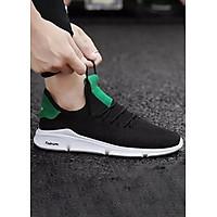Giày Sneaker Nam Đế Fashion CỰC ÊM Và Nhẹ HAPU Full Trắng, Full Đen, Đen Gót Xanh