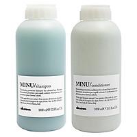 Bộ dầu gội xả Davines Minu dành cho tóc nhuộm Shampoo & Conditioner 1000ml