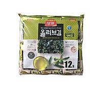 Bịch 12 Gói Lá Kim Ăn Liền Vị Dầu Oliu Dongwon (5g/gói x 12)