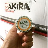 Thùng 100 cuộn giấy in hóa đơn nhiệt K80 Akira (bọc bạc) - hàng chính hãng
