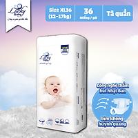 Tã Bỉm Quần Lucky Baby Không Huỳnh Quang, Siêu Thấm Hút XL36 (12-17kg)